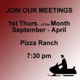 Driftbusters Monthly meetings are held at Pizza Ranch from 7:30 - 8:30.