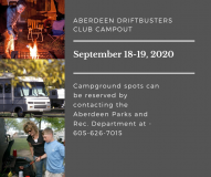 Aberdeen Driftbusters Club Campout @ Wylie Park Campground